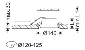 پنل IP43 توکار