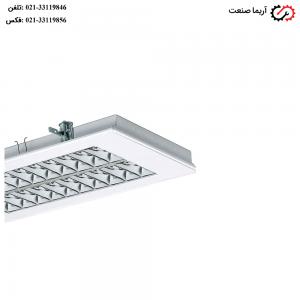 چراغ فلورسنتی سقفی توکار 36 وات مازی نور مدل الگانت
