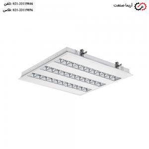 چراغ 60×60 فلورسنتی توکار 24 وات مازی نور مدل الگانت