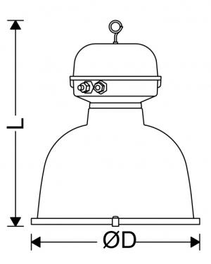 چراغ صنعتی IP40 کارگاهی